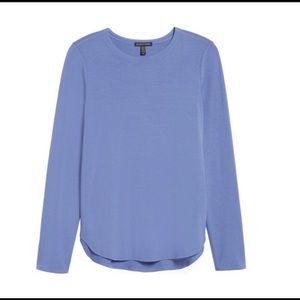 Eileen Fisher Crewneck Periwinkle Jersey Top XS